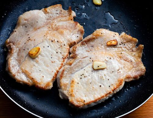 Bistec de Cerdo cocinado