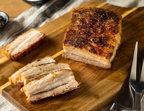 Falda de cerdo cocinada