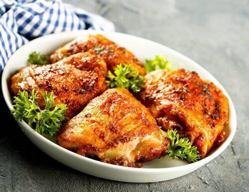 Caderas de pollo cocinadas